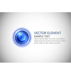 Abstract center point blue text vector