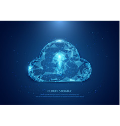 Abstract cloud form of a starry sky technology vector