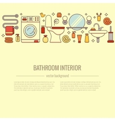 BATHROOM-END Bath equipment colorful concept vector image vector image