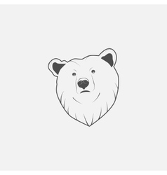 Bear icon in grayscale vector