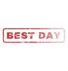best day rubber stamp vector image vector image