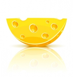 cheese segment vector image vector image