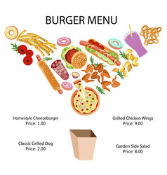 Fast food restaurant banner vector
