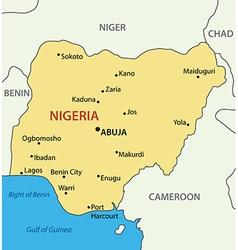 Federal republic of nigeria - map vector