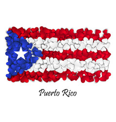 flag love puerto rico flag heart glossy with vector image vector image