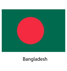 Flag of the country bangladesh vector image