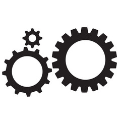 Gear icon gear wheels pictograms isolated gear vector