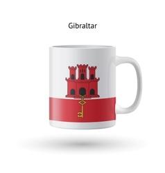 Gibraltar flag souvenir mug on white background vector