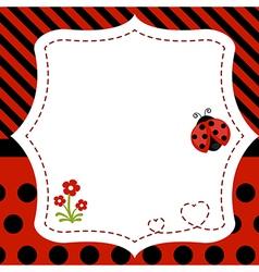 Greeting card with ladybug vector image