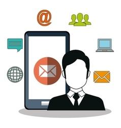 internet communication design vector image vector image