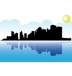 Manhattan skyline vector