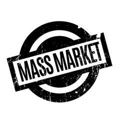 Mass market rubber stamp vector