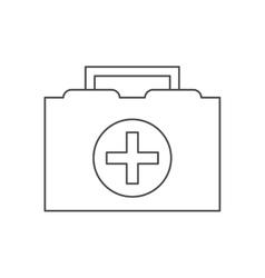 Medical kit of medical care design vector
