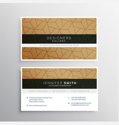 Minimal business card design template with vector