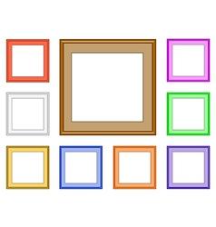 modern frame square vector image vector image