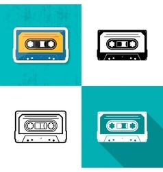 music cassette tape icon vector image vector image