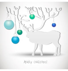 New year card with christmas reindeer vector