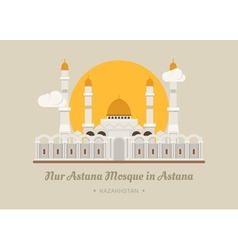 Nur-astana mosque in astana kazakhstan vector