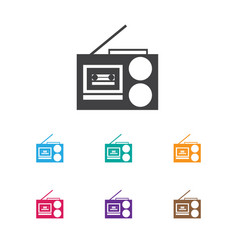 of audio symbol on tape vector image