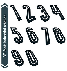 Outlined rotated numeration monochrome bold lined vector