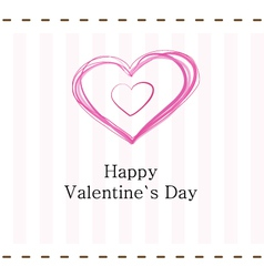 Pink valentines day card vector