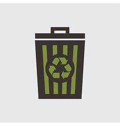 recycle basket vector image