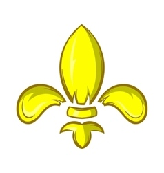Royal lily icon cartoon style vector image