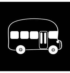 Symbol bus black background vector