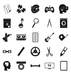 Talent icons set simple style vector