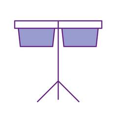 Timpani music instrument icon vector