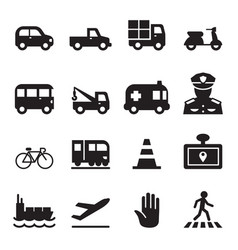 traffic icon set 2 vector image vector image
