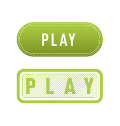 Ui interface green button play media internet vector