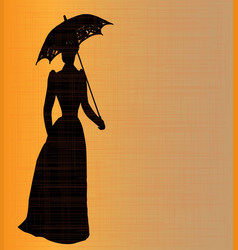 victorian lady vector image vector image