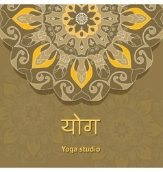 Yoga studio template Yoga studio flyer vector image vector image
