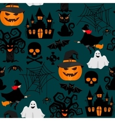 Halloween crafts wrapping seamless pattern vector