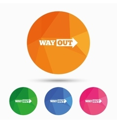 Way out right sign icon arrow symbol vector
