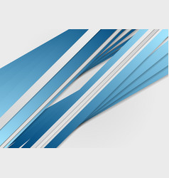 Abstract blue stripes corporate background vector image