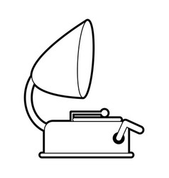 Sketch silhouette image old gramophone musical vector
