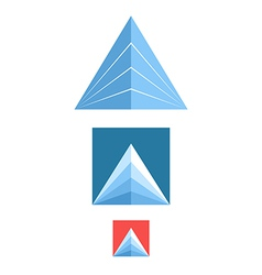 Mountain icon set vector