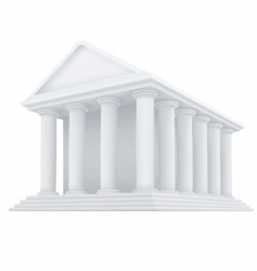 ancient building vector image
