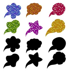 Mosaic speech bubbles vector