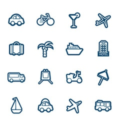 Travel and transportation icon vector