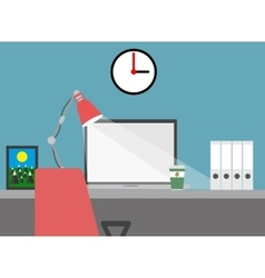 Home workspace flat vector