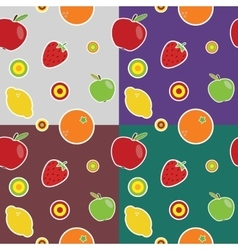 Fruit colored pattern vector