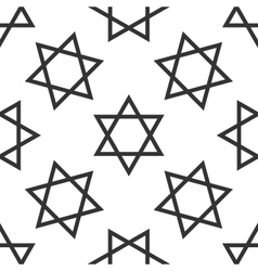 Star of david icon pattern on white background vector