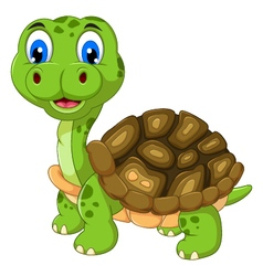 Cut cartoon turtle vector