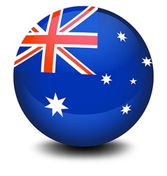 A soccer ball with the flag of Australia vector image vector image