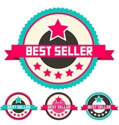 Best seller retro flat design labels set vector