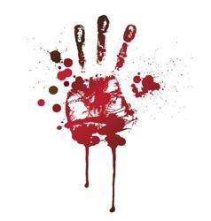 Bloody handprint vector