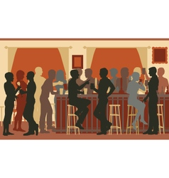Busy evening bar vector image
